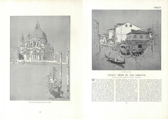 Article Preview: Venice: Bride of the Adriatic, February 18 1909 | Vogue
