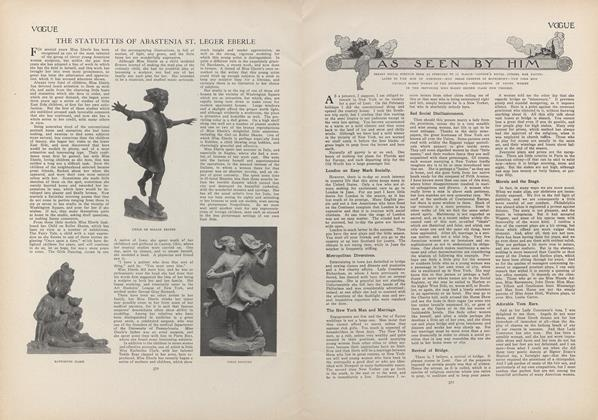 Article Preview: As Seen by Him, March 4 1909 | Vogue