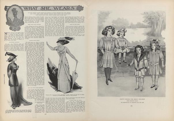 Article Preview: What She Wears, March 4 1909 | Vogue