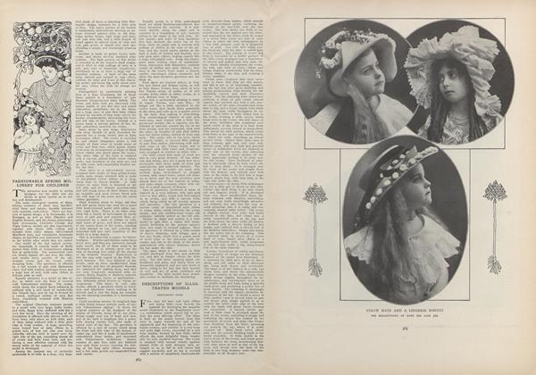 Article Preview: Fashionable Spring Millinery for Children, March 4 1909 | Vogue