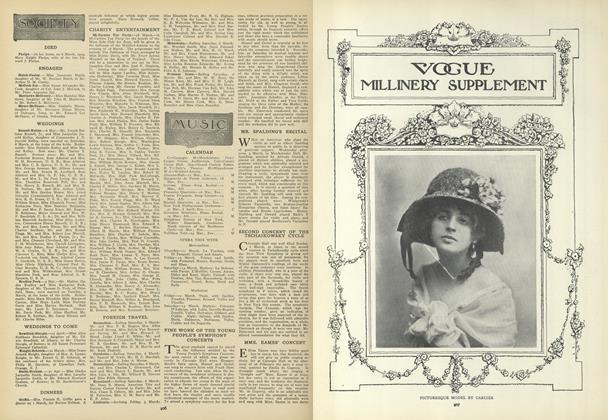 Article Preview: Society, March 11 1909 | Vogue