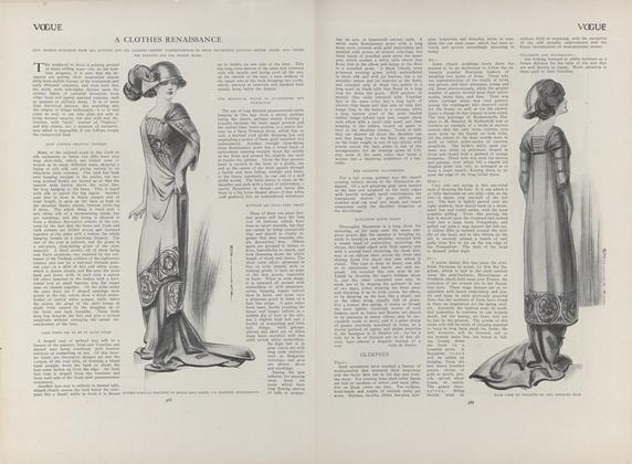 Article Preview: A Clothes Renaissance, March 18 1909 | Vogue