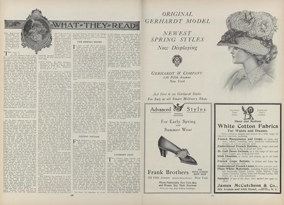 Article Preview: What They Read, March 18 1909 | Vogue