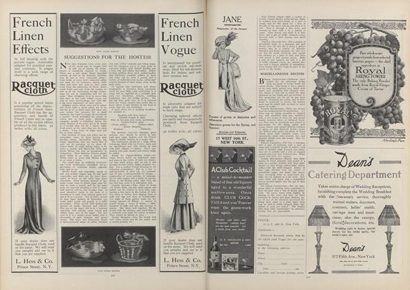 Article Preview: Suggestions for the Hostess, March 18 1909 | Vogue