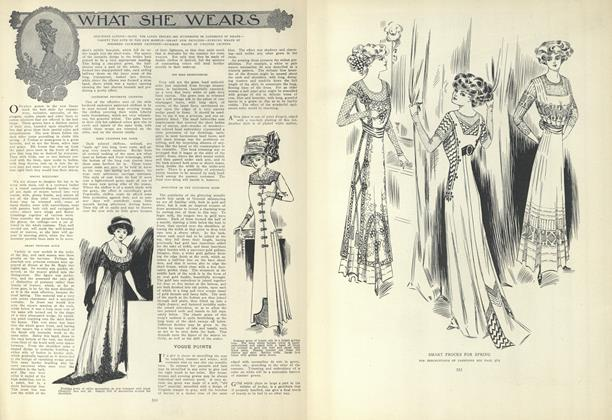 Article Preview: What She Wears, March 25 1909 | Vogue