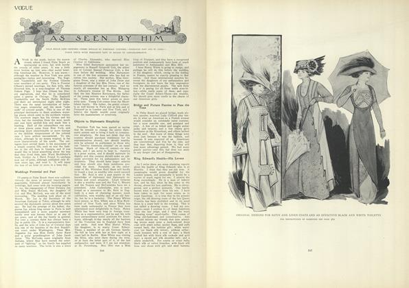 Article Preview: As Seen by Him, March 25 1909 | Vogue