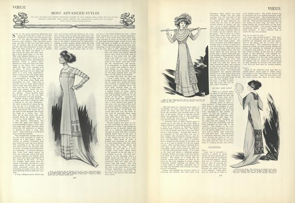 Article Preview: Most Advanced Styles, March 25 1909 | Vogue