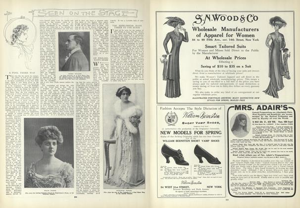 Article Preview: Seen on the Stage, April 1 1909 | Vogue
