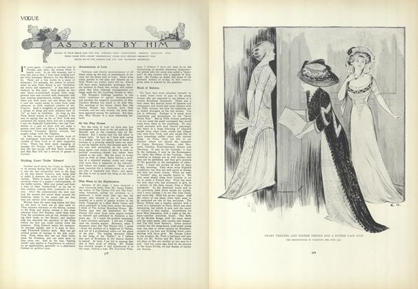 Article Preview: As Seen by Him, April 1 1909 | Vogue