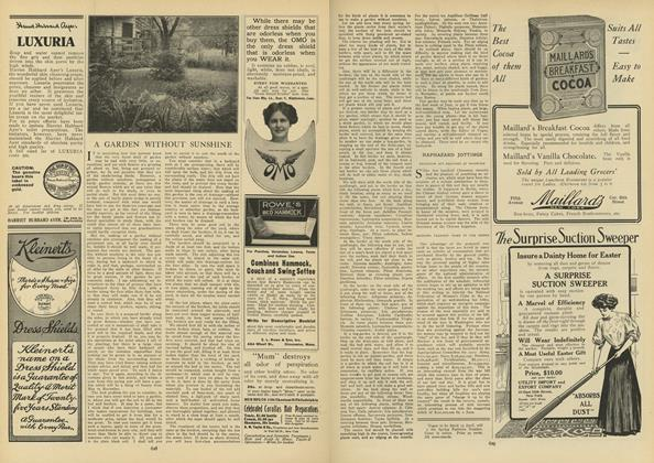 Article Preview: A Garden Without Sunshine, April 8 1909 | Vogue