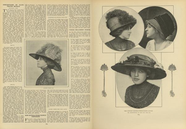 Article Preview: Descriptions of Illustrated Models, April 8 1909 | Vogue