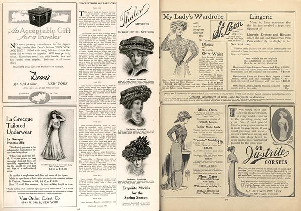 Article Preview: Descriptions of Fashions, April 15 1909 | Vogue