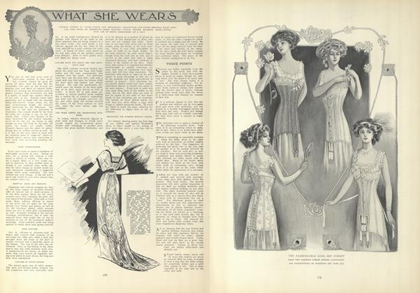 Article Preview: What She Wears, April 22 1909 | Vogue