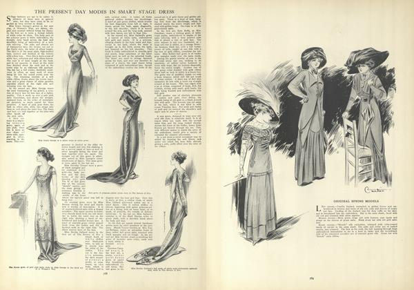 Article Preview: The Present Day Modes in Smart Stage Dress, April 22 1909 | Vogue