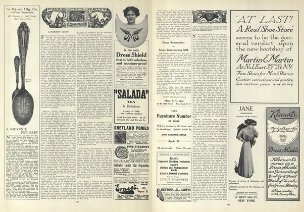 Article Preview: Literary Chat, April 22 1909 | Vogue