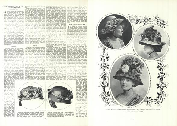 Article Preview: Descriptions of Illustrated Models, May 20 1909 | Vogue