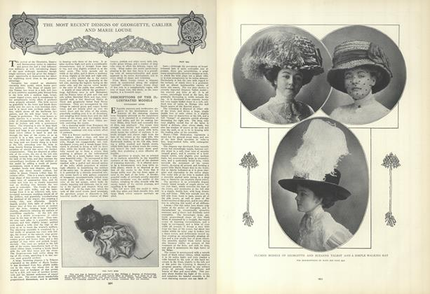 Article Preview: The Most Recent Designs of Georgette, Carlier and Marie Louise, May 27 1909 | Vogue