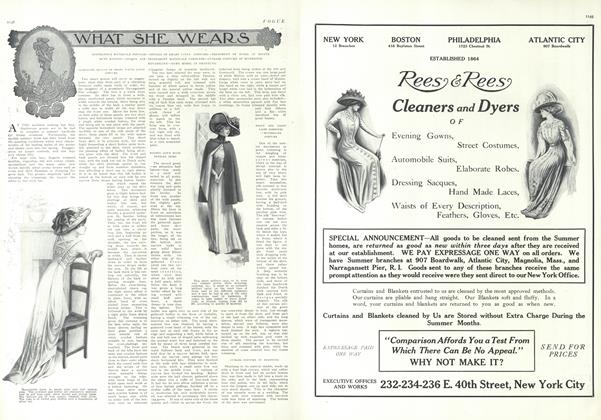 Article Preview: What She Wears, June 24 1909 | Vogue
