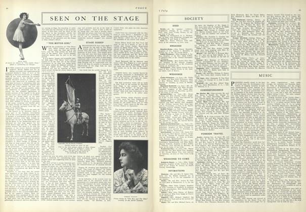 Article Preview: Seen on the Stage, July 1 1909 | Vogue