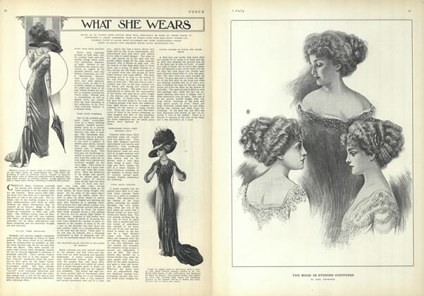 Article Preview: What She Wears, July 1 1909 | Vogue