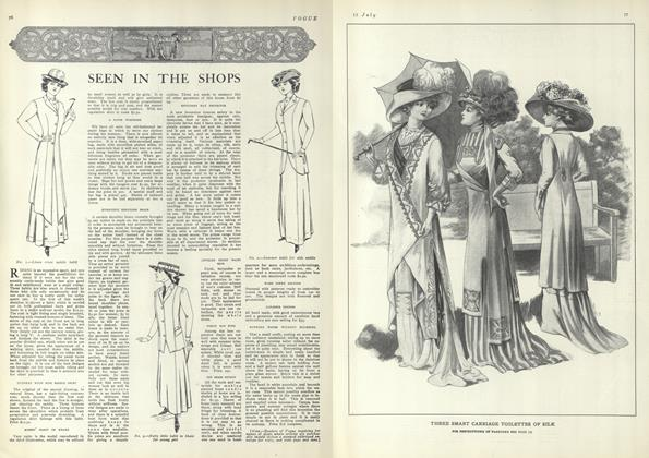 Article Preview: Seen in the Shops, July 15 1909 | Vogue
