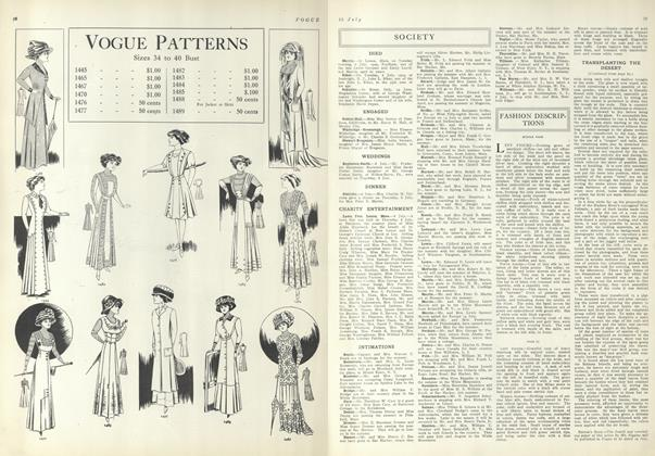 Article Preview: Society, July 15 1909 | Vogue