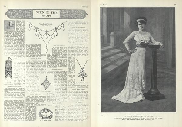 Article Preview: Seen in the Shops, July 29 1909 | Vogue