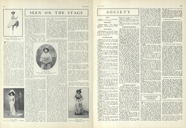 Article Preview: Seen on the Stage, July 29 1909 | Vogue