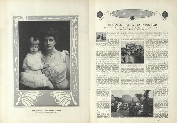Article Preview: Sky Sailing as a Feminine Fad, August 5 1909 | Vogue