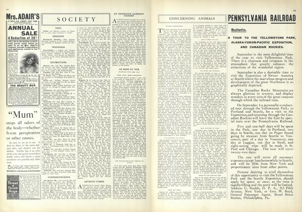 Article Preview: Society, August 12 1909 | Vogue