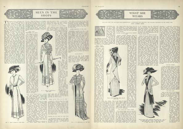 Article Preview: What She Wears, August 12 1909 | Vogue