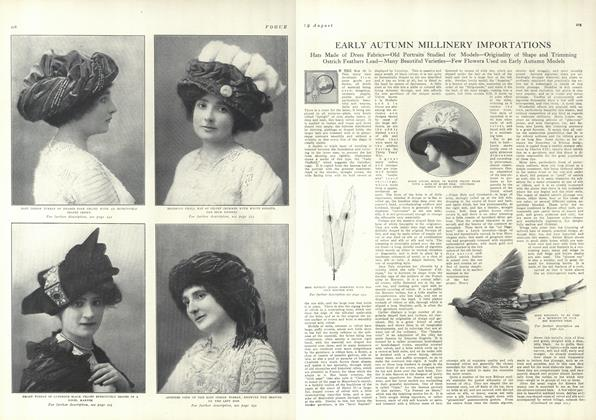 Early Autumn Millinery Importantions