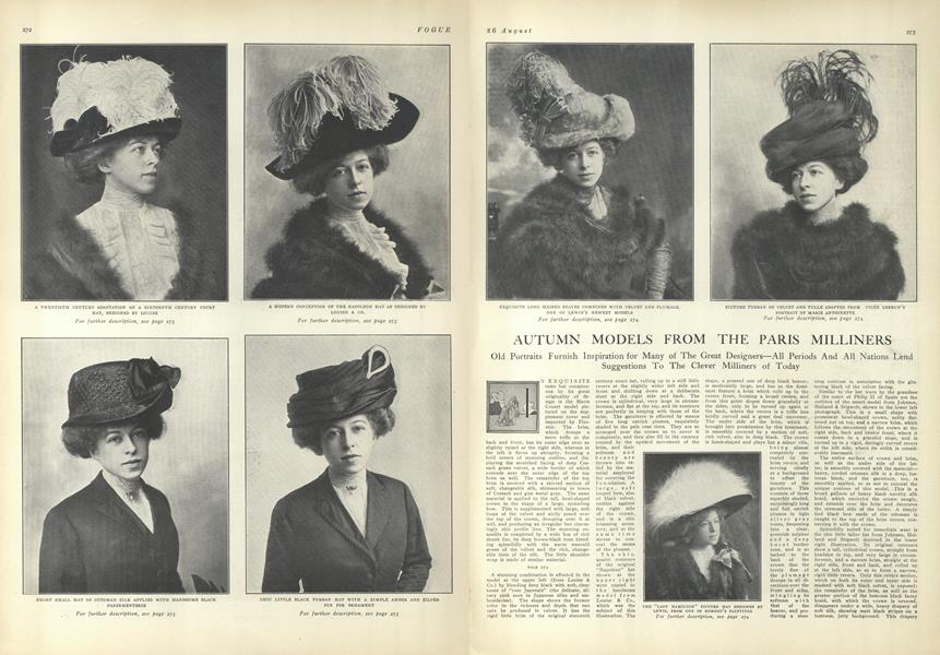 Autumn Models from the Paris Milliners