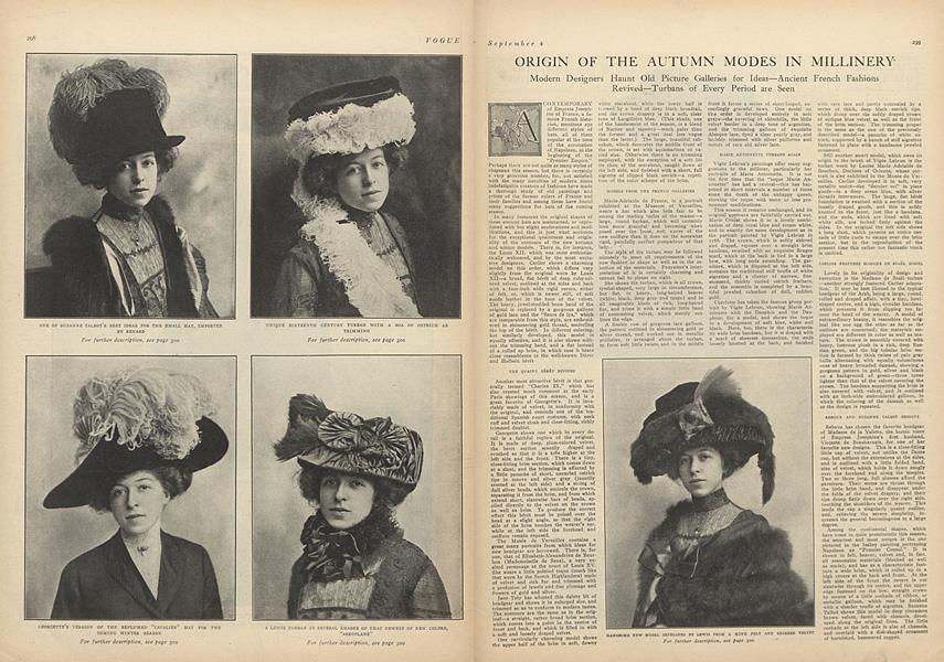 Origin of the Autumn Modes in Millinery