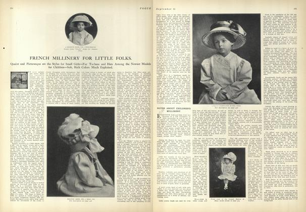 Article Preview: French Millinery for Little Folks, September 11 1909 | Vogue