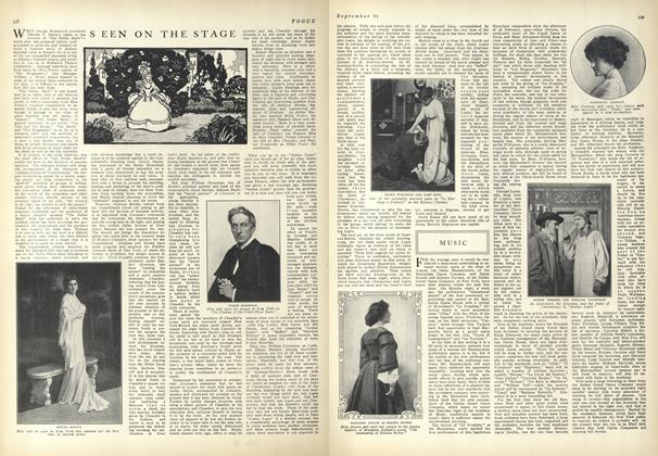 Article Preview: Seen on the Stage, September 11 1909 | Vogue