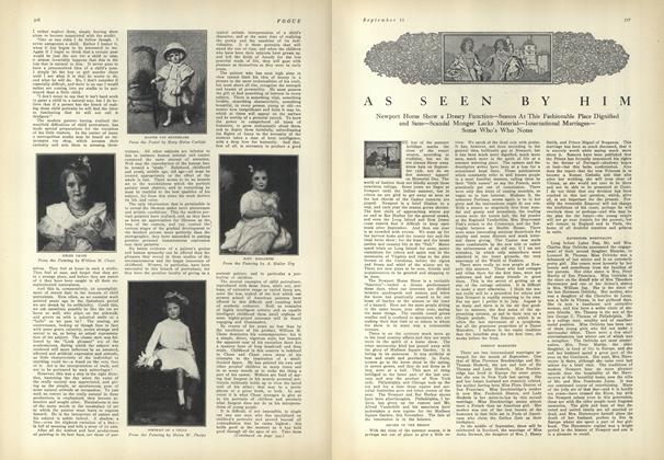 Article Preview: As Seen by Him, September 11 1909 | Vogue