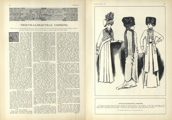 Article Preview: Trouville-Deauville Fashions, September 11 1909 | Vogue