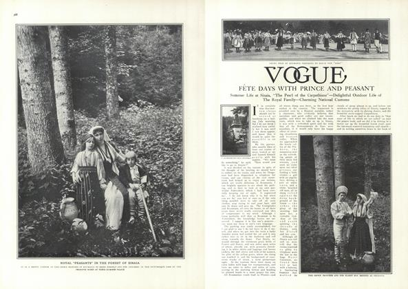 Article Preview: Fete Days with Prince and Peasant, September 18 1909 | Vogue