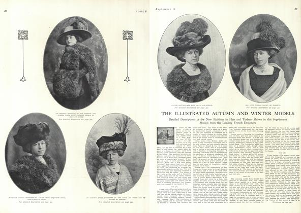 Article Preview: The Illustrated Autumn and Winter Models, September 18 1909 | Vogue
