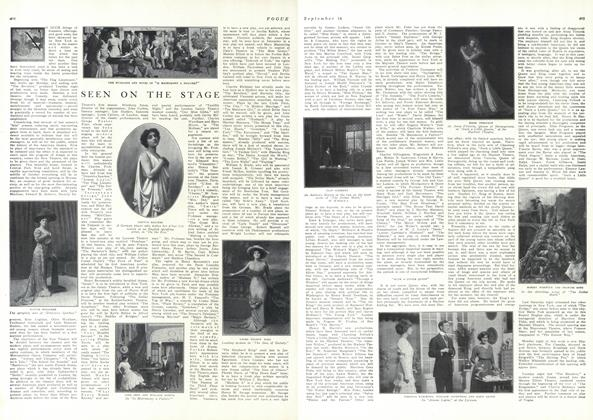 Article Preview: Seen on the Stage, September 18 1909 | Vogue