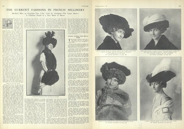 The Current Fashions in French Millinery