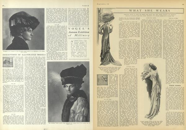 Article Preview: What She Wears, September 25 1909 | Vogue