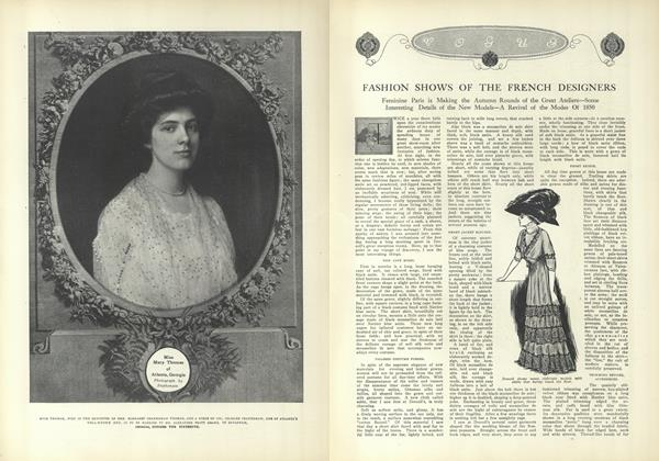 Article Preview: Fashions Shows of the French Designers, September 25 1909 | Vogue