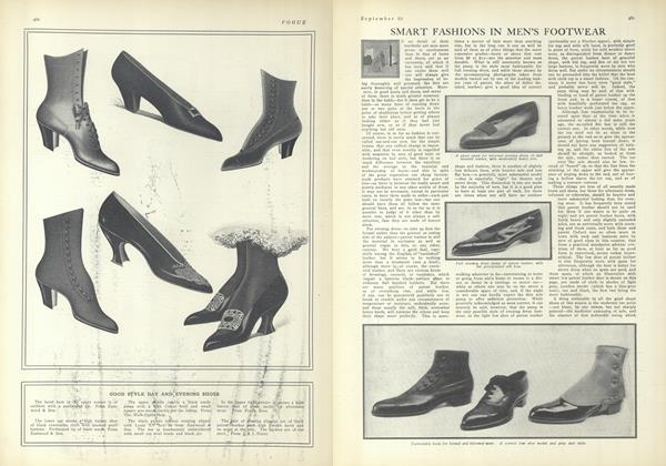 Article Preview: Smart Fashions in Men's Footwear, September 25 1909 | Vogue