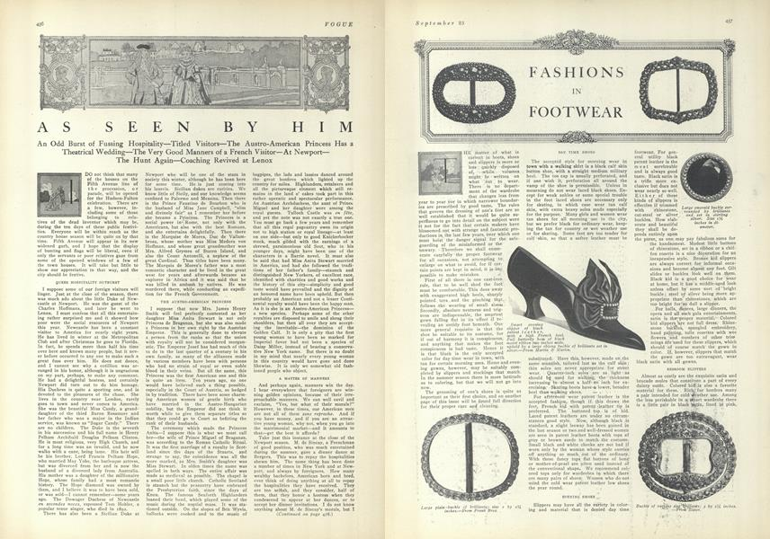 As Seen by Him