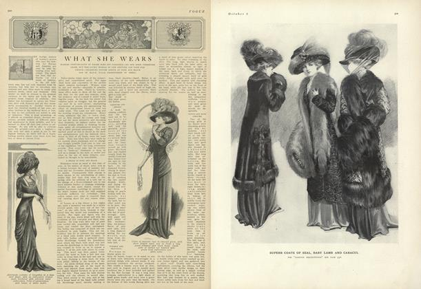 Article Preview: Whats She Wears, October 2 1909 | Vogue