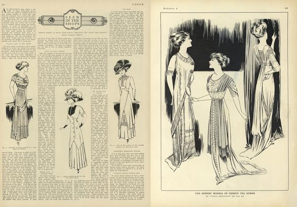 Article Preview: Seen in the Shops, October 2 1909 | Vogue