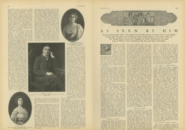 Article Preview: As Seen by Him, October 2 1909 | Vogue