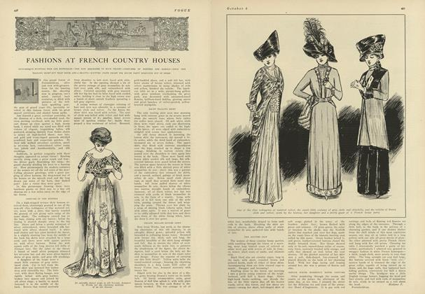 Article Preview: Fashions at the French Country Houses, October 2 1909 | Vogue